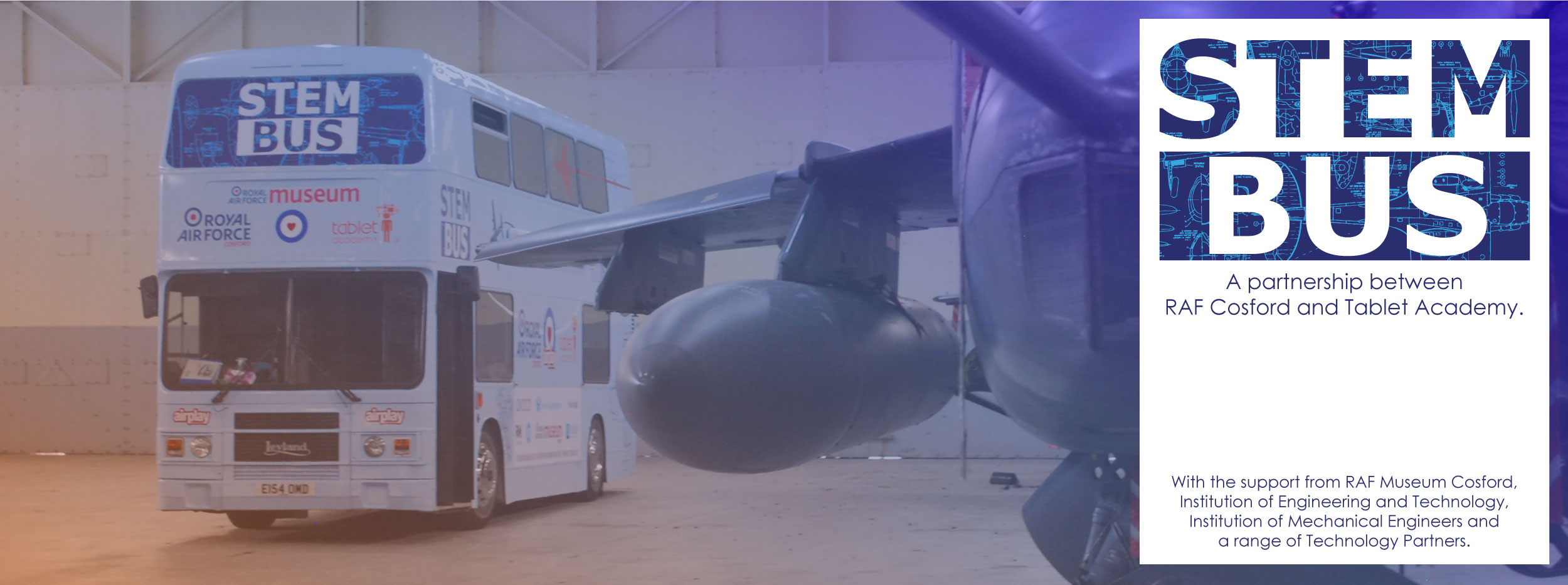 STEM Bus -  A partnership between RAF Cosford and Tablet Academy.